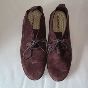 Hush puppies in chocolate suede